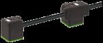 Conector de electroválvula doble