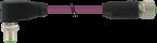 M12 male 90° / M12 female 0° CANopen/DeviceNet
