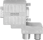 M12/D-SUB PROFIBUS ADAPTER 90°-Zn alloy