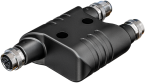 h coupler M12 male L-coded/ 2x M12 female L-coded