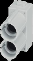 Pneumatic module - female & male, 2-pole