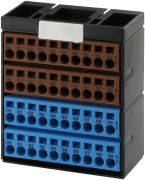 POTENTIAL TERMINAL BLOCK BROWN BLUE