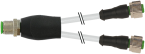 M12 male Y-distributor / M12 female 0°