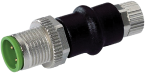 ADAPTOR M12 MALE/ M8 FEMALE 3 POLE CONF. 1,3,4