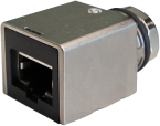 adaptor M12 female x-cod. / RJ45 male 0° Gigabit
