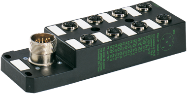 M12 DISTRIBUTOR BOX 8-WAY, 5-POLE, NO LED