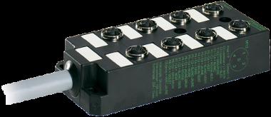 M12-DISTRIBUTOR BOX 8-WAY, 5-POLE WITHOUT LED