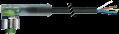 M12 FEMALE 90° LED
