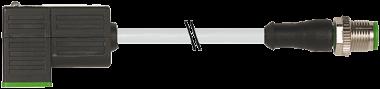 M12 male 0° / MSUD valve plug form CI 9.4mm