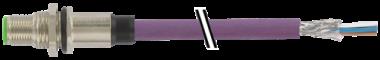 M12 male receptacle rear mount DeviceNet