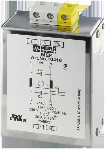 MEF EMC-FILTER 1-PHASE 1-STAGE