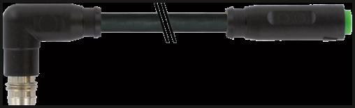 M8 MALE 90° / M8 FEMALE 0° SNAP-IN