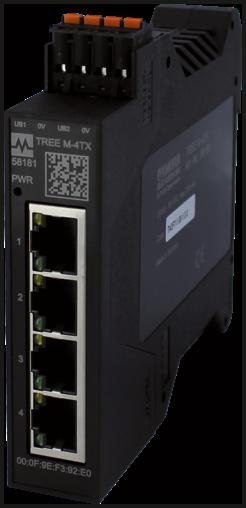 TREE PROFINET managed Switch  4x10/100BT IP20  plastic RJ45