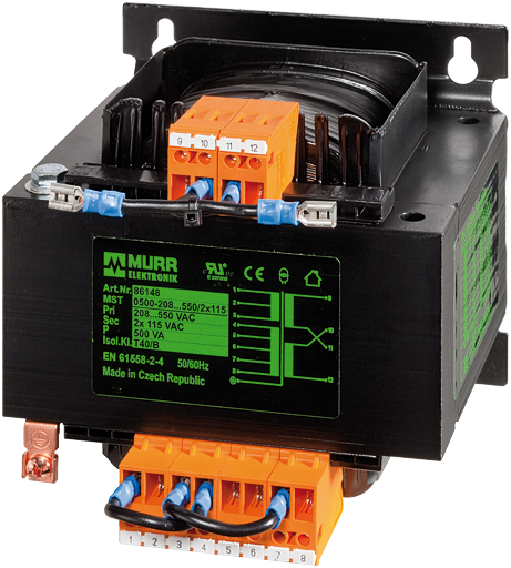 24 V AC 100 va 86342 1-monofásica Transformador de seguridad Murrelektronik mts